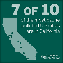California Clean Air Day - most polluted cities