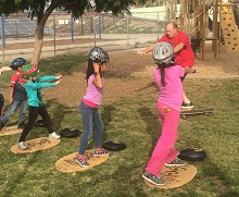 iCommute Walk, Ride, and Roll to School skateboard class